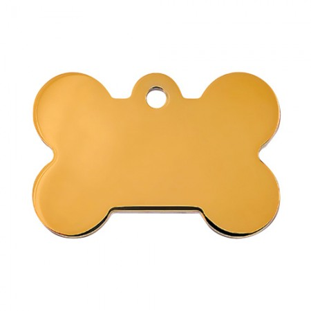 PetScribe I.D. Tag - Gold Plated - Large Bone