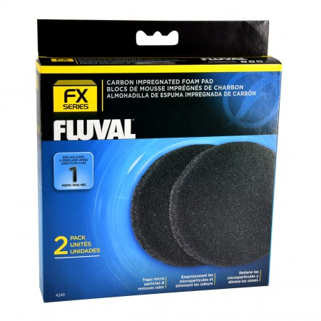 Fluval Carbon Impregnated Foam Pads for FX Series - 2 pk