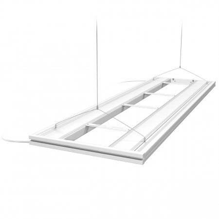 """Aquatic Life T5 HO Hybrid 4-Lamp Mounting System Fixture - 61"""" - White"""