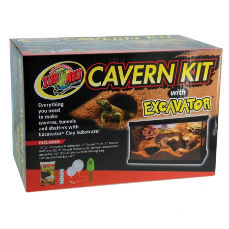 Zoo Med Cavern Kit with Excavator Clay Burrowing Substrate