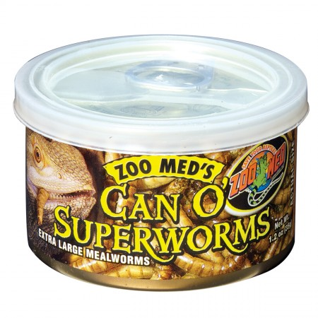 Zoo Med Can O' Superworms - 1.2 oz