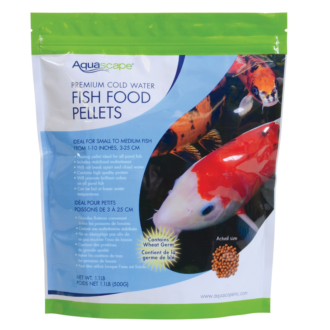 Aquascape premium cold water fish food pellets for Pond fish food
