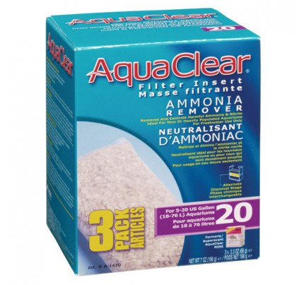 Hagen Ammonia Remover Filter Insert for AquaClear 20/Mini - 3 pk