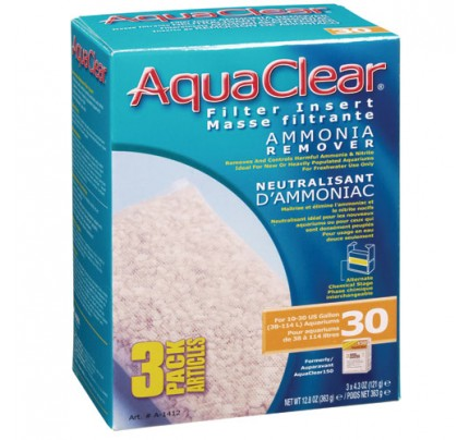 Hagen Ammonia Remover Filter Insert for AquaClear 30/150 - 3 pk