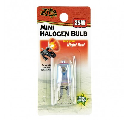 Zilla Mini Halogen Bulb - Night Red - 25 W