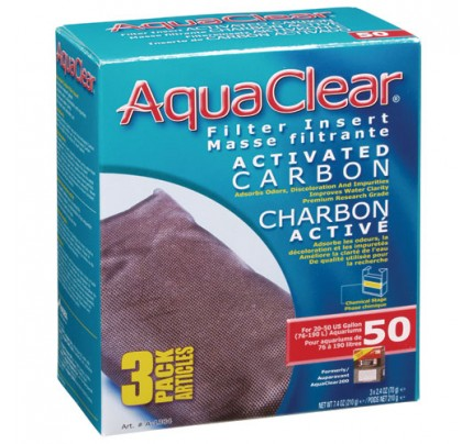 Hagen Activated Carbon Filter Insert for AquaClear 50/200 - 3 pk