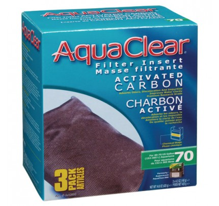 Hagen Activated Carbon Filter Insert for AquaClear 70/300 - 3 pk