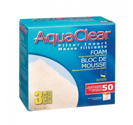 Hagen Foam Filter Insert for AquaClear 50/200 - 3 pk