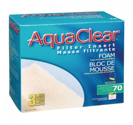 Hagen Foam Filter Insert for AquaClear 70/300 - 3 pk