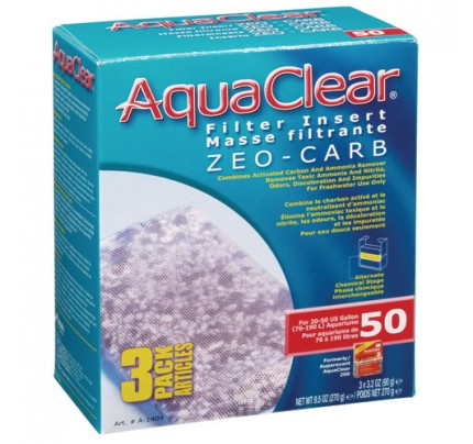 Hagen Zeo-Carb Filter Insert for AquaClear 50/200 - 3 pk