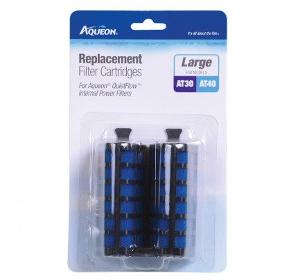 Aqueon Filter Cartridges for QuietFlow Internal Filters - Large - 2 pk