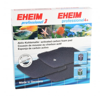 Eheim Activated Carbon Pads for 2071-2075/2074/Pro 4/2271/2272/2273/2274/2275 - 3 pk