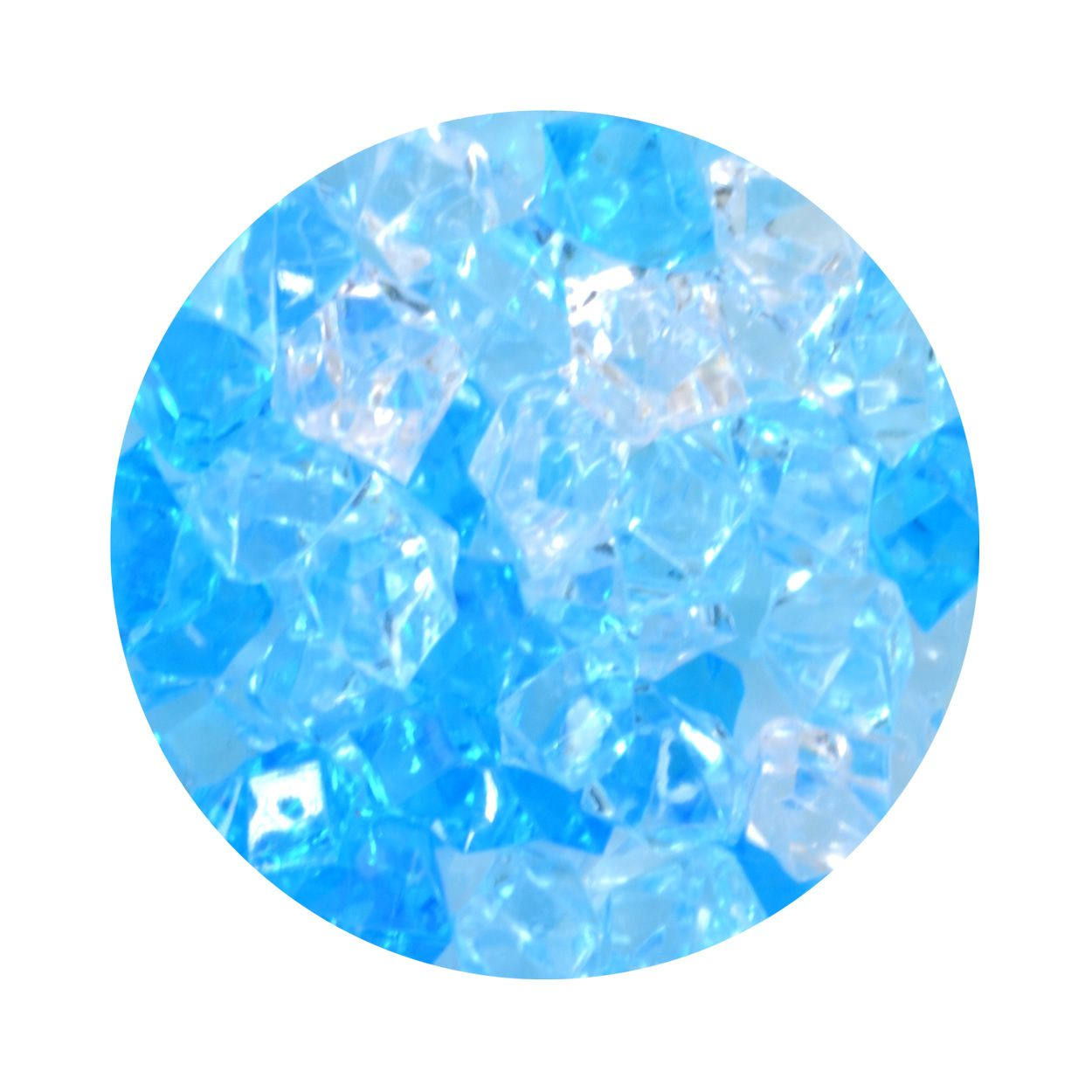 Aqua One Crystal Gems Acrylic Gravel - Blue Ice - 5 oz
