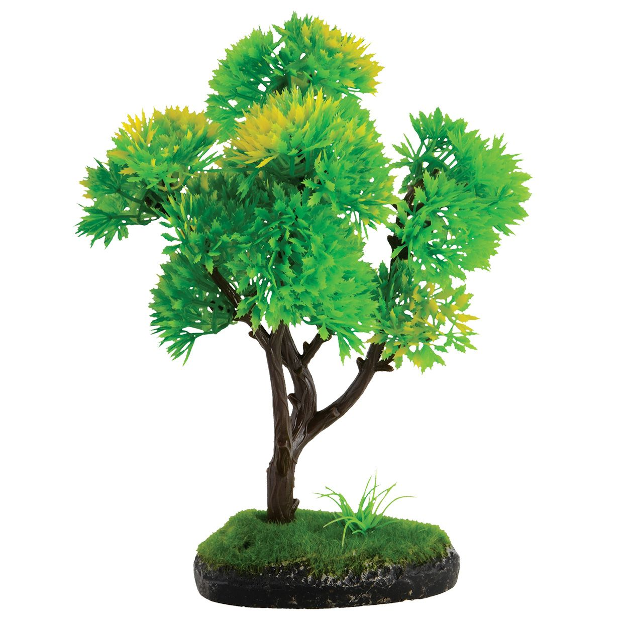 Underwater Treasures Bonsai Green and Yellow Tree - 7 inch