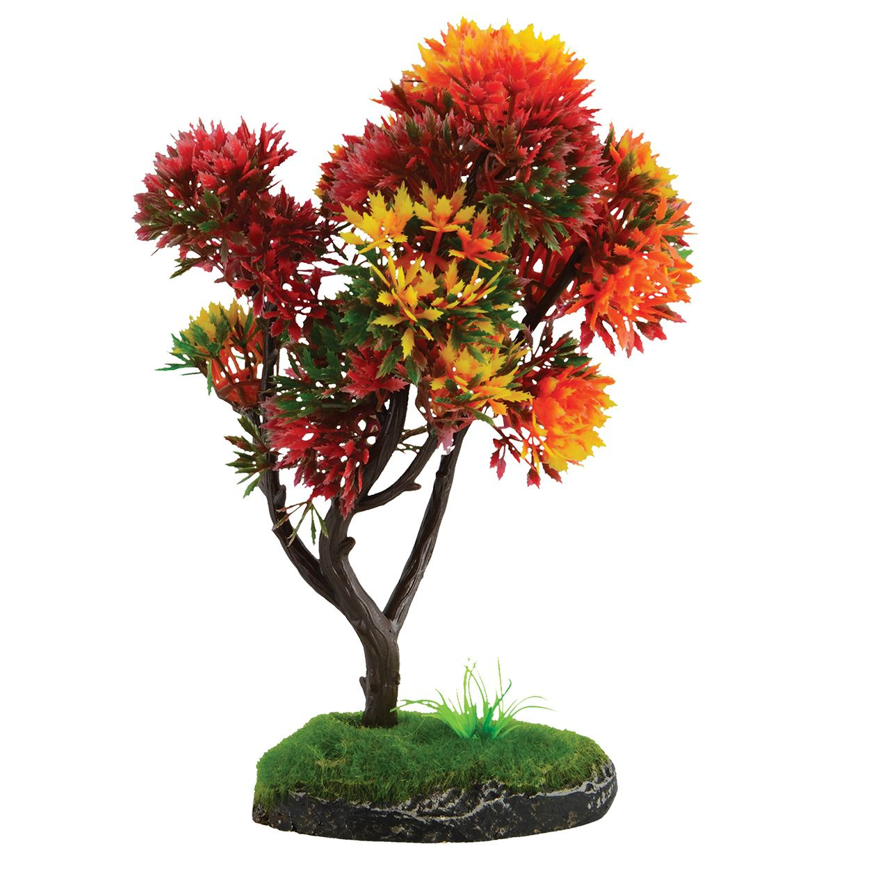 Underwater Treasures Bonsai Red and Yellow Tree - 7.5 inch