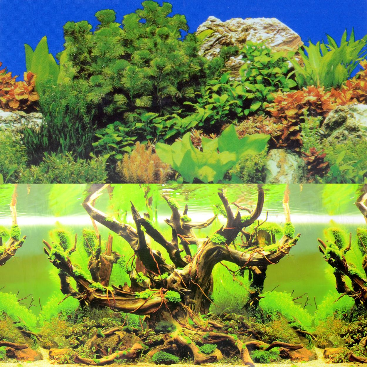 Underwater Treasures Rolling Hills/Mystic Forest Reversible Background - 20 inch (Sold by the Foot)