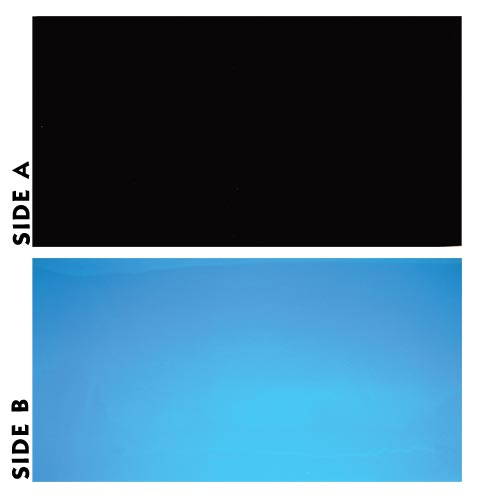 Underwater Treasures Black/Blue Reversible Backgrounds - 20 inch (Sold by the foot)