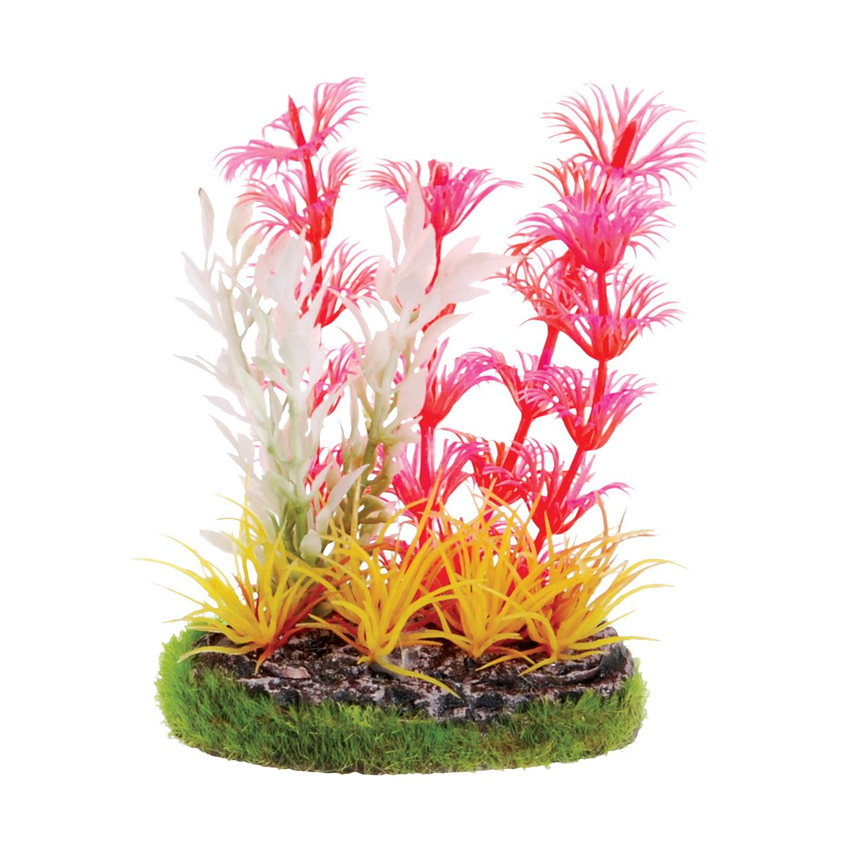 Underwater Treasures Pink Cabomba with Yellow Grass Scene - 3.25 inch