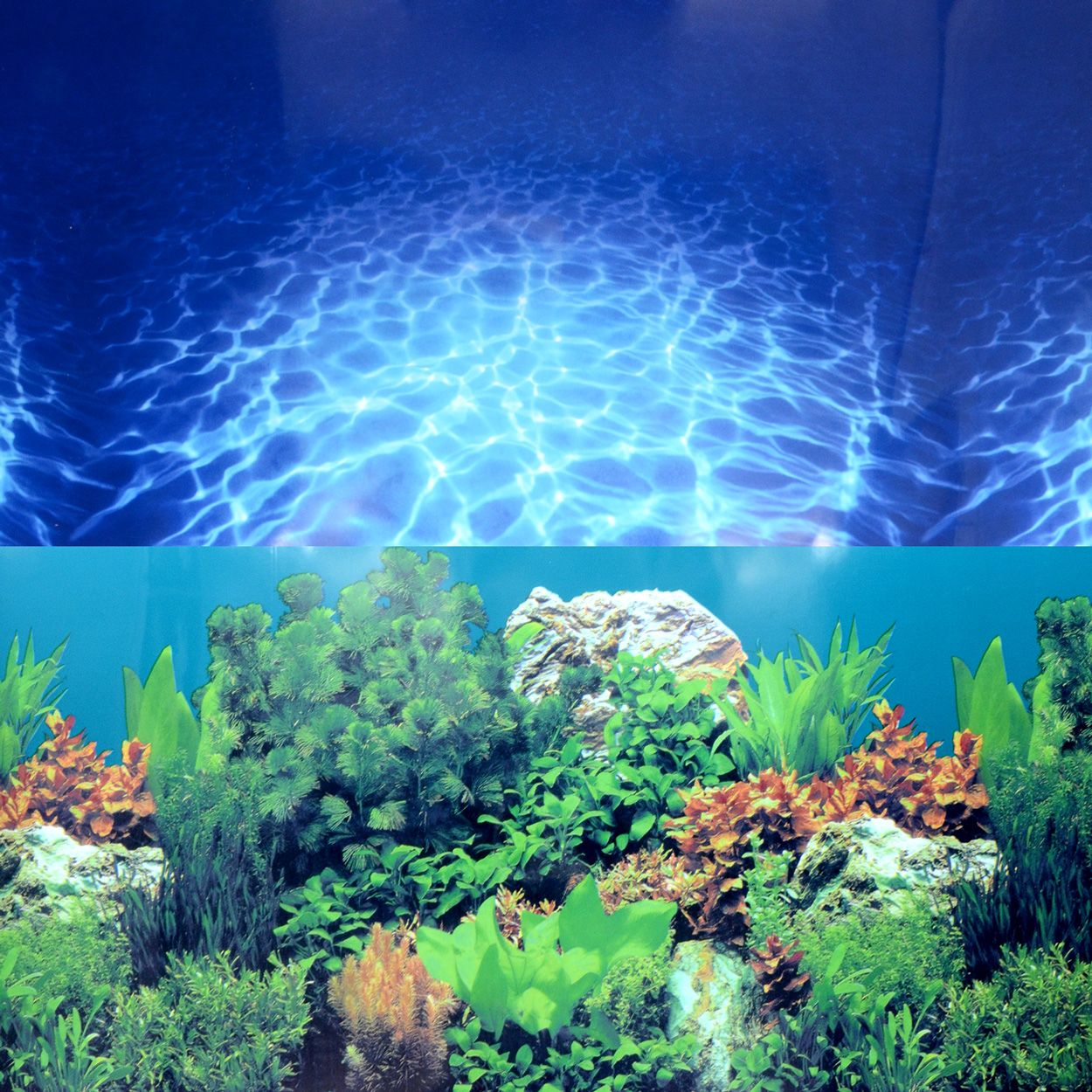 Underwater Treasures Aqua-Paradise & SeaGarden Reversible Background - 20 inch (Sold by the Foot)