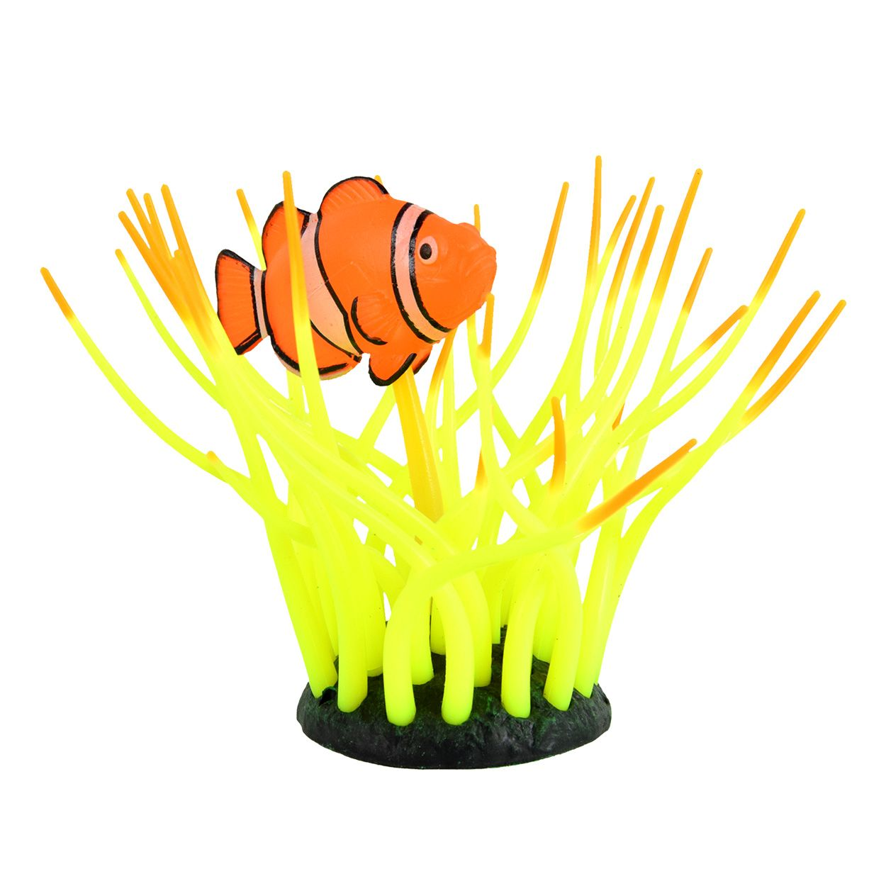 Underwater Treasures Glow Action Bubbling Clownfish in Anemone - Yellow