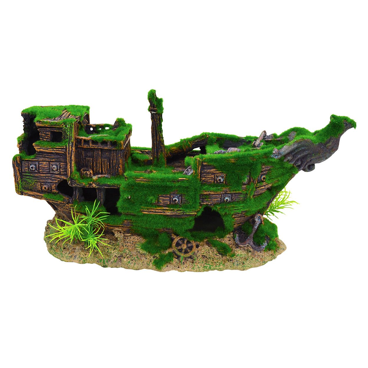 Underwater Treasures Mossy Shipwreck