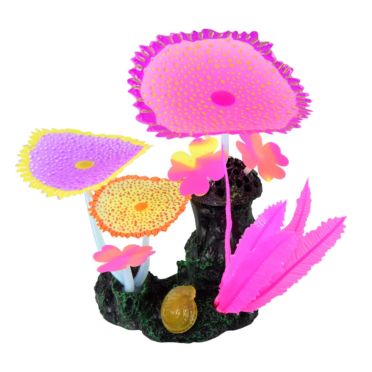 Underwater Treasures Glow Action Bubbling Carpet Coral Garden - Rose